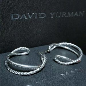 David Yurman crossover classic cable earrings